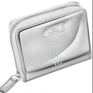 Authentic Swarovski Crystal Metallic Wallet